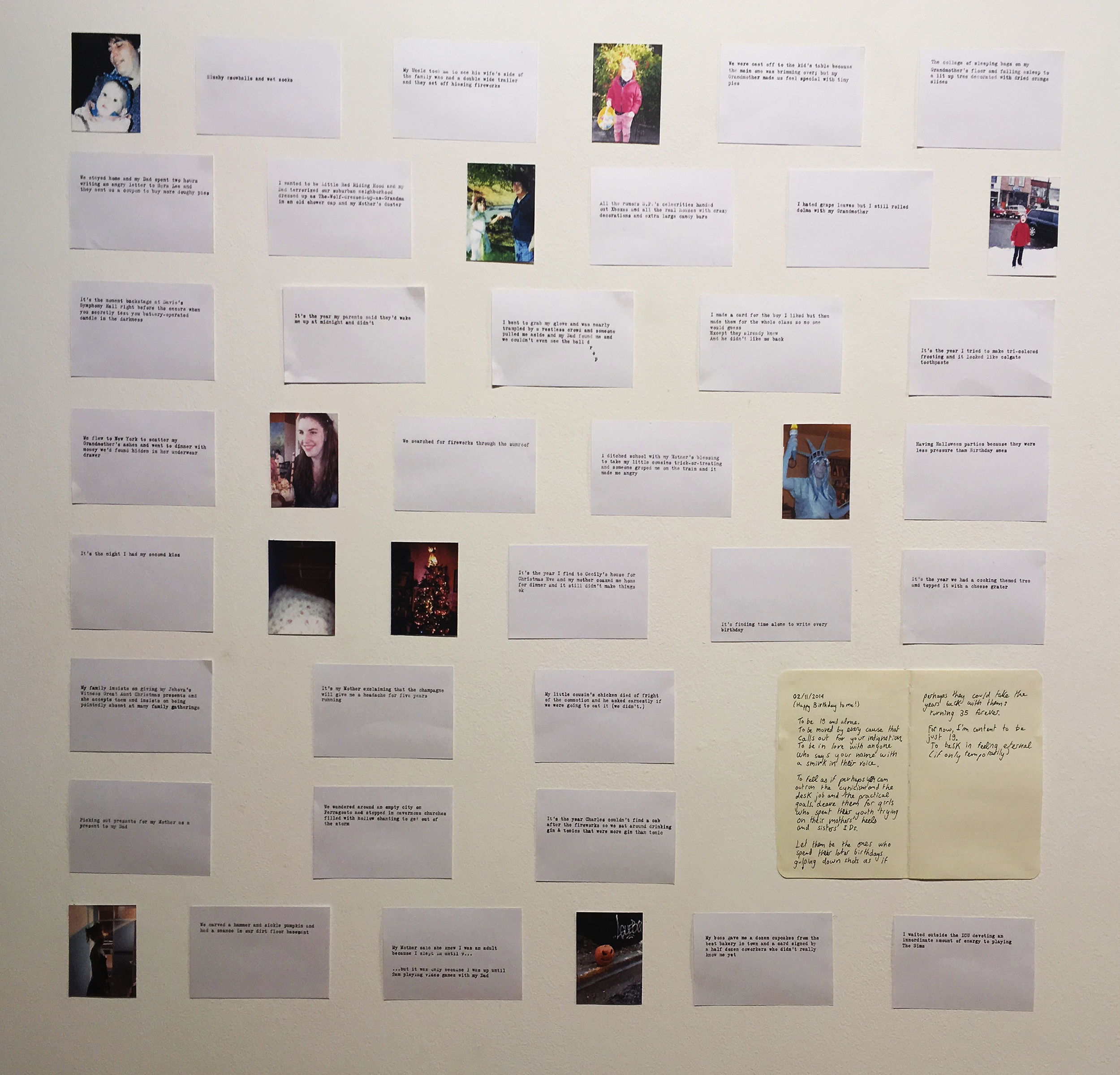 Many index cards were harmed in the making of this project