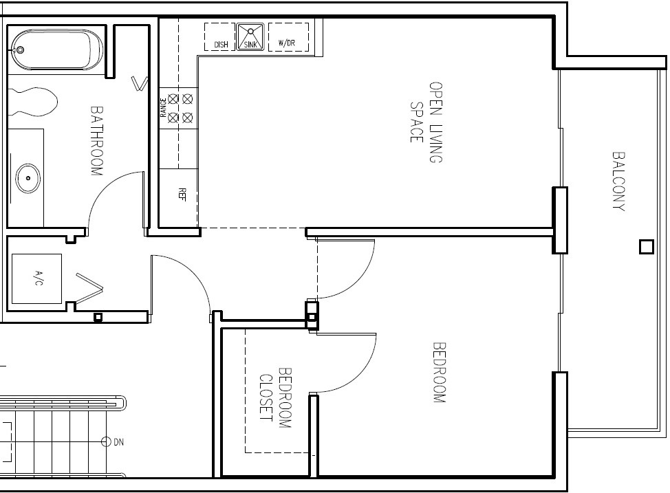 1 Bedroom (Click to Enlarge)
