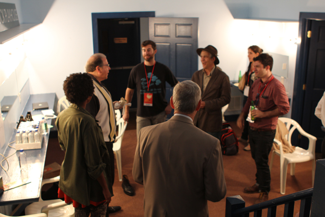 Backstage pow wow before showtime