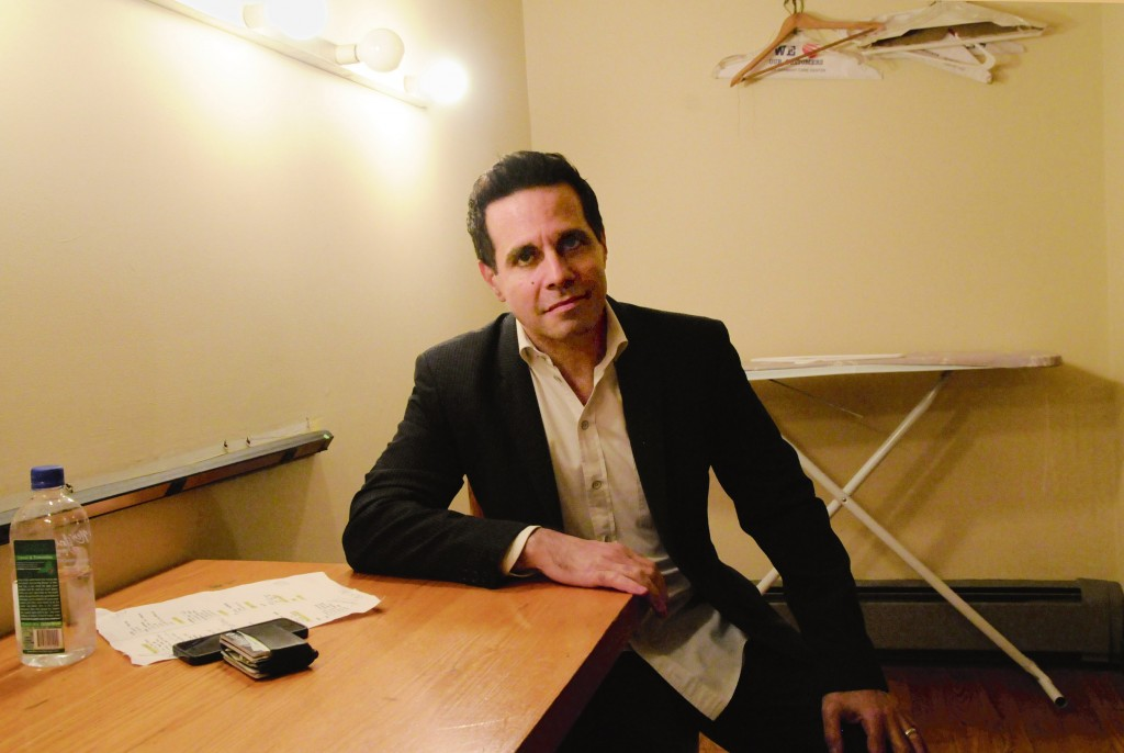 Back stage with Mario Cantone