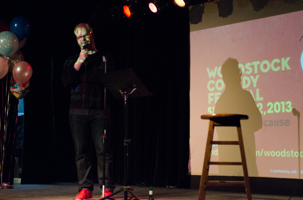 Jim Gaffigan performs at the first-ever WCF fundraiser