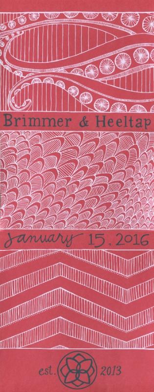 Artist Kristen Winn's design for the 2016 anniversary print to benefit Big Table.