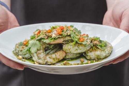 Our delicious prawn salad.