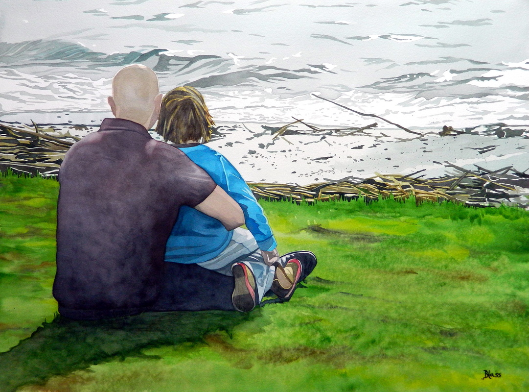 """""""Seas  ons"""", watercolour on paper, 22x30"""""""
