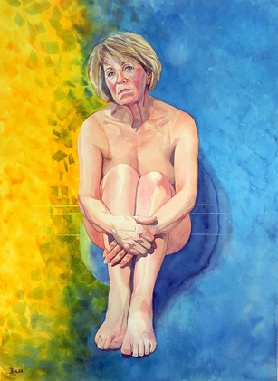"""Eshet Chayil - Rosemary""   watercoloron paper,22x30"""