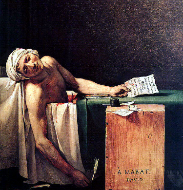 "Jacques-Louise David ""The Death of Marat"""