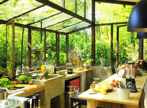 The dream kitchen in a dream location...