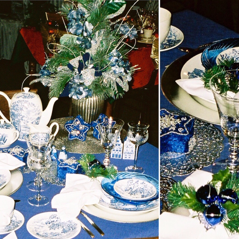 The Blue Dish Christmas, lifeisaprettyword.com, that particular Christmas is the last time our table felt full.