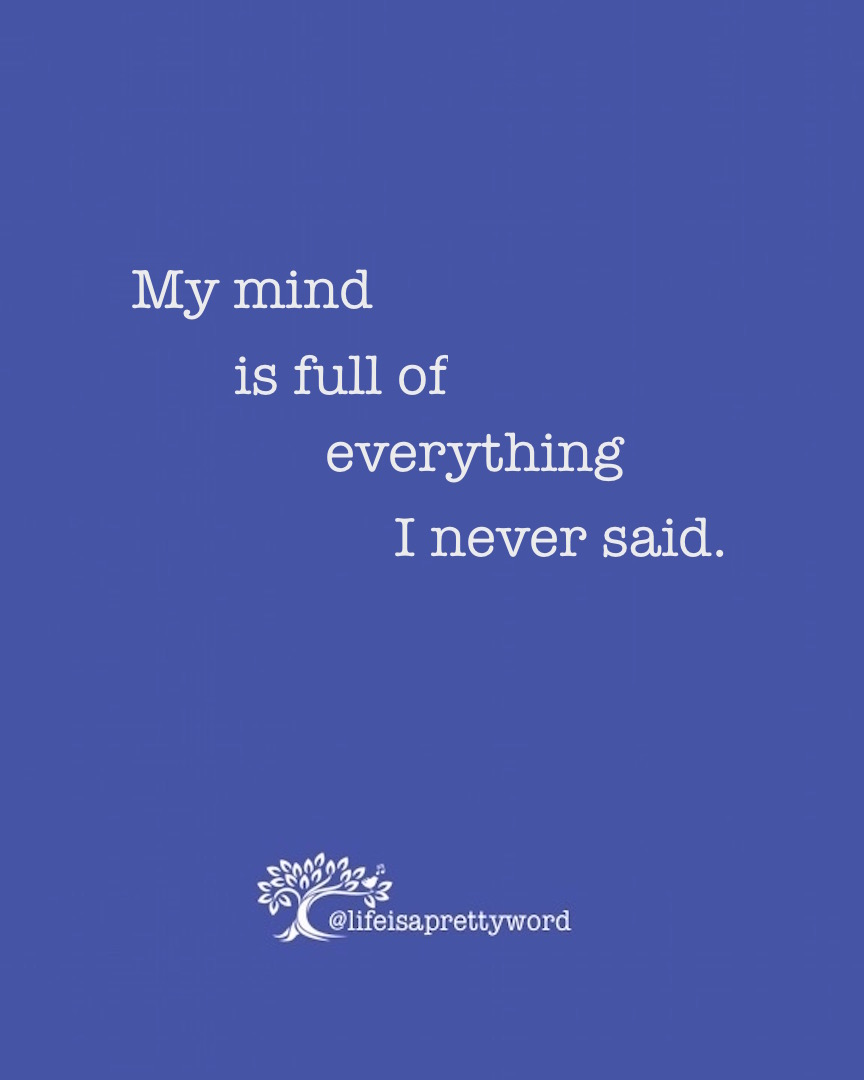 Letters from Stanford; My mind is full of everything I never said . . .read more at lifeisaprettyword.com