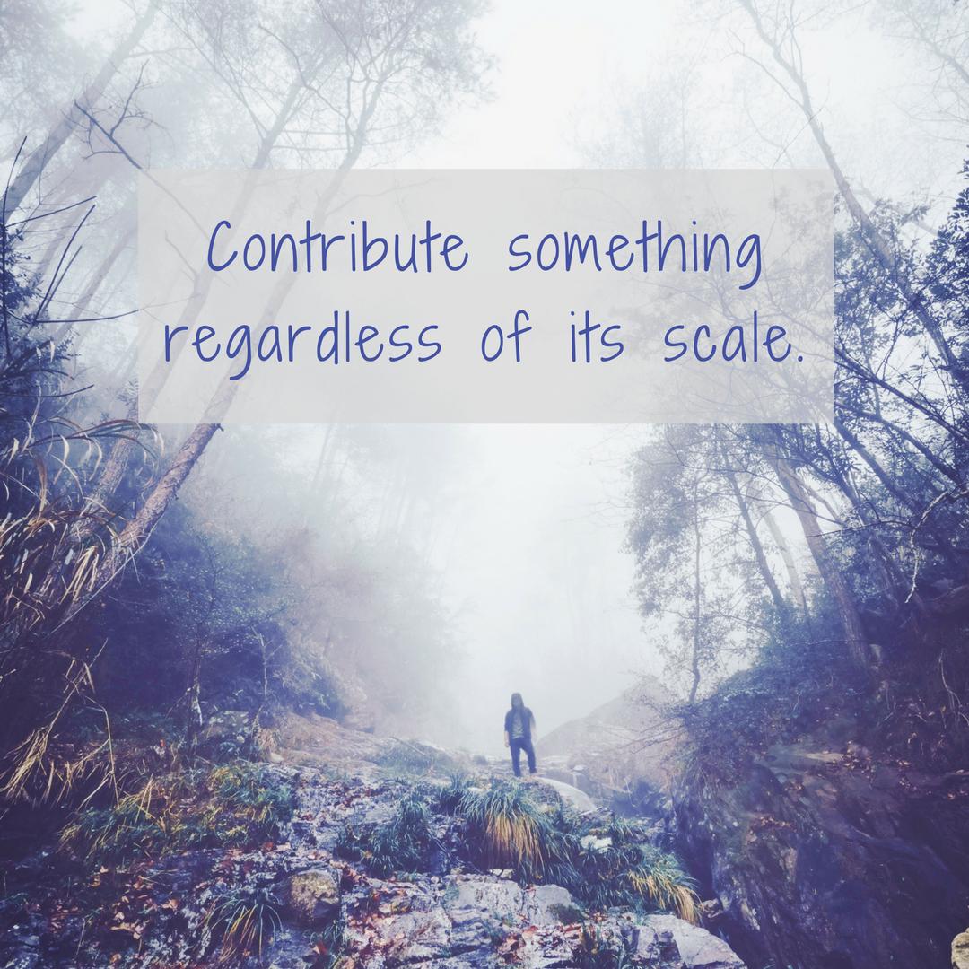 Contribute something; lifeisaprettyword.com blog post; Photo by  Alessio Lin on  Unsplash