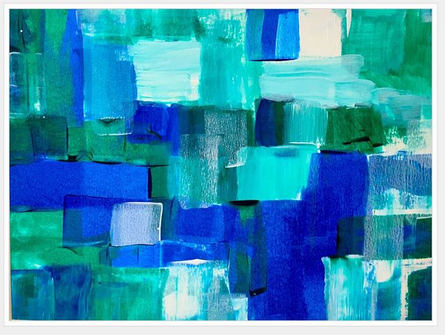 """Do you suffer from indecision? I tell myself it's not that I'm indecisive but rather, I just haven't decided yet. Ha! For example, this image of a recent painting. Is it done or not? I want it to be done and don't know what else I'd do to it but yet I've not signed it so it's still officially a #WIP. ⠀ ⠀ I don't like feeling undecided. With """"clarity"""" being my word for 2019, I'm questioning things more often and finding I may not always ask the right questions. The what ifs can sometimes get me unstuck but other times not so much. That's when I remind myself to let go the preciousness of my creations and instead consider how precious time is. Time moves on and so should I. ⠀ ⠀ What are you questioning today? ⠀ ⠀ #justdoit #progress #clarity #askquestions #manifesting #acrylicpaint #whatif #whyaskwhy #creatorscreate #lifeisaprettyword #makeachoice"""