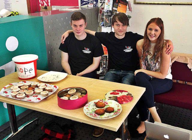 Josh, Conner and Zara taking donations for a good cause (note the brownies went quickly!)