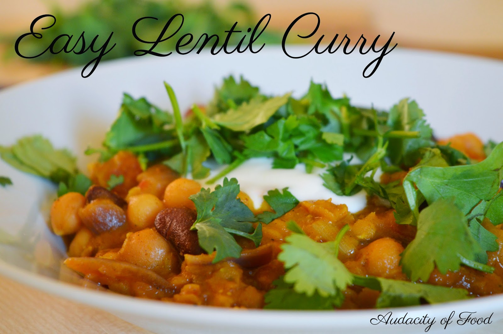 Easy Lentil Curry Recipe (Vegan) by Audacity of Food