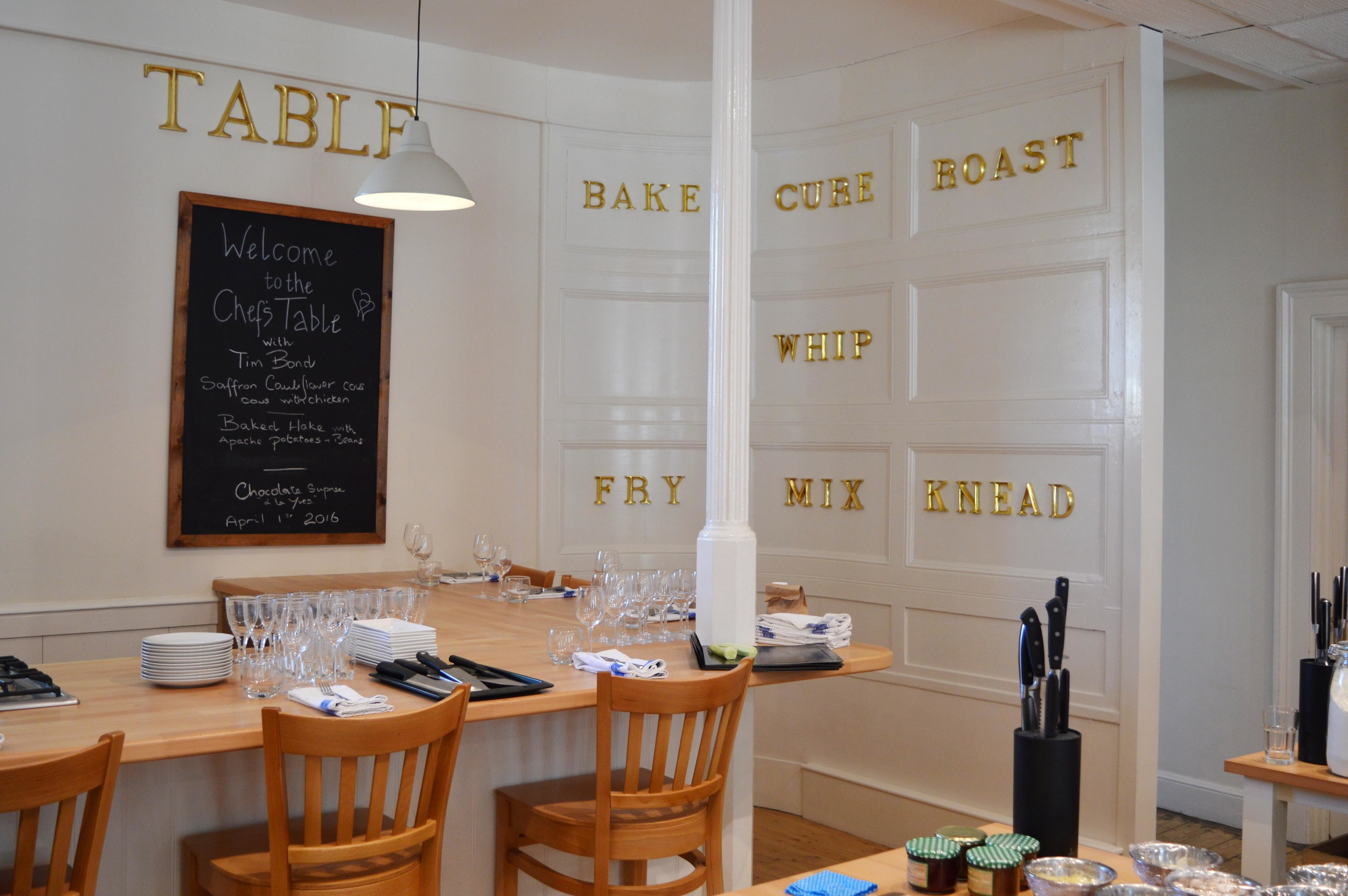 The lovely interior of the cookery school