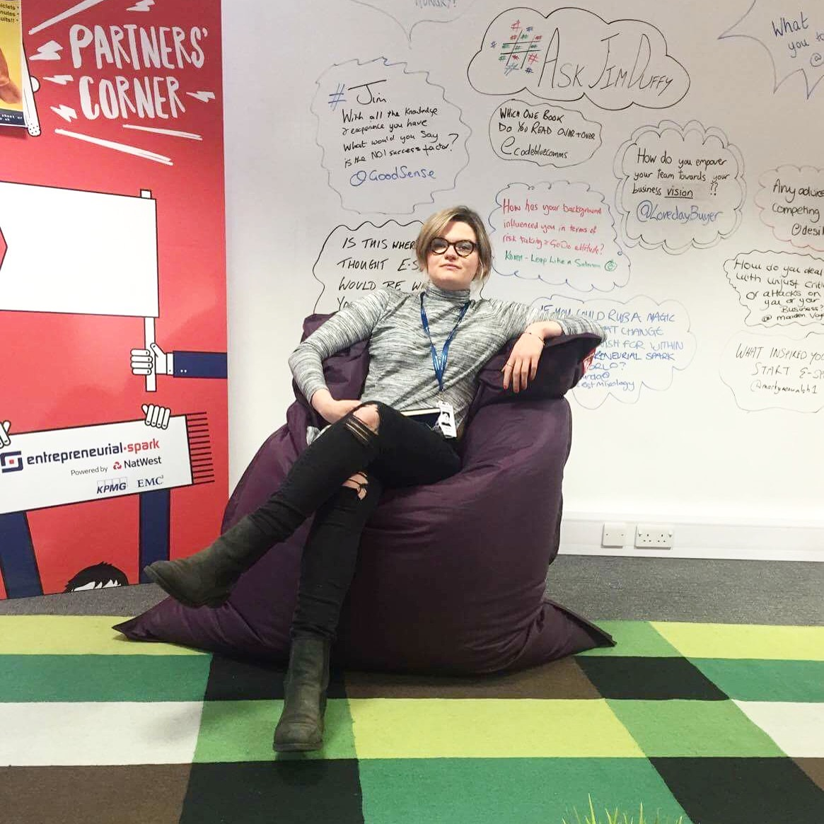 Highlight of last week: Playing GoT on a beanbag in the Entrepreneurial Spark Hatchery