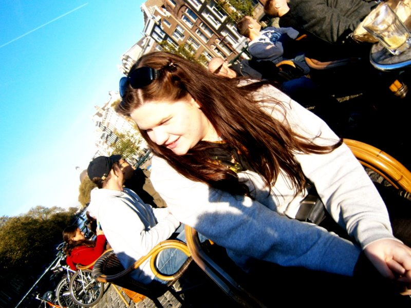 A much younger and longer haired Bethan in Amsterdam on a very cold day in November, 2011.