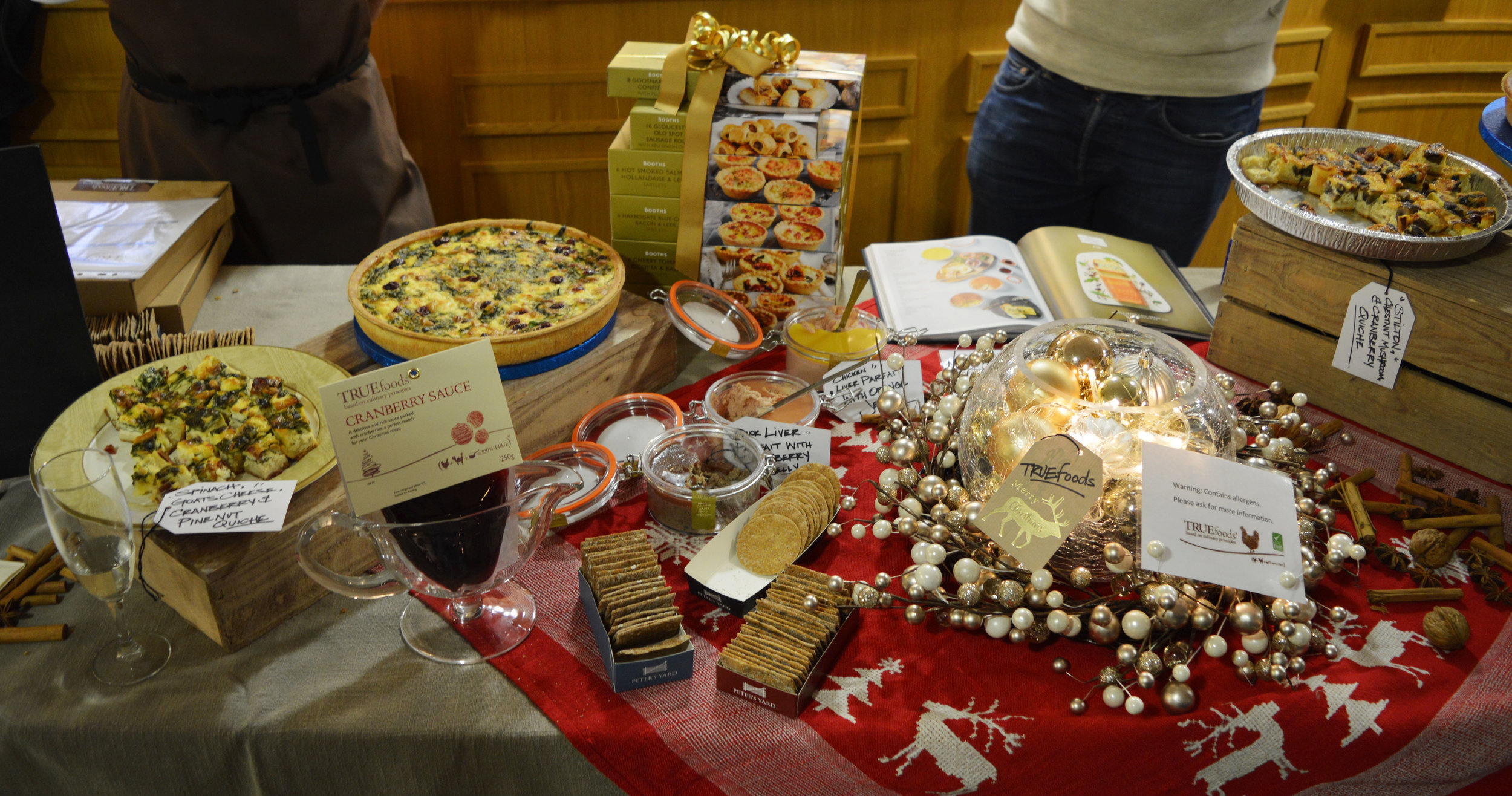 Christmas Goodies at the launch of the traditional Booths Christmas Book!