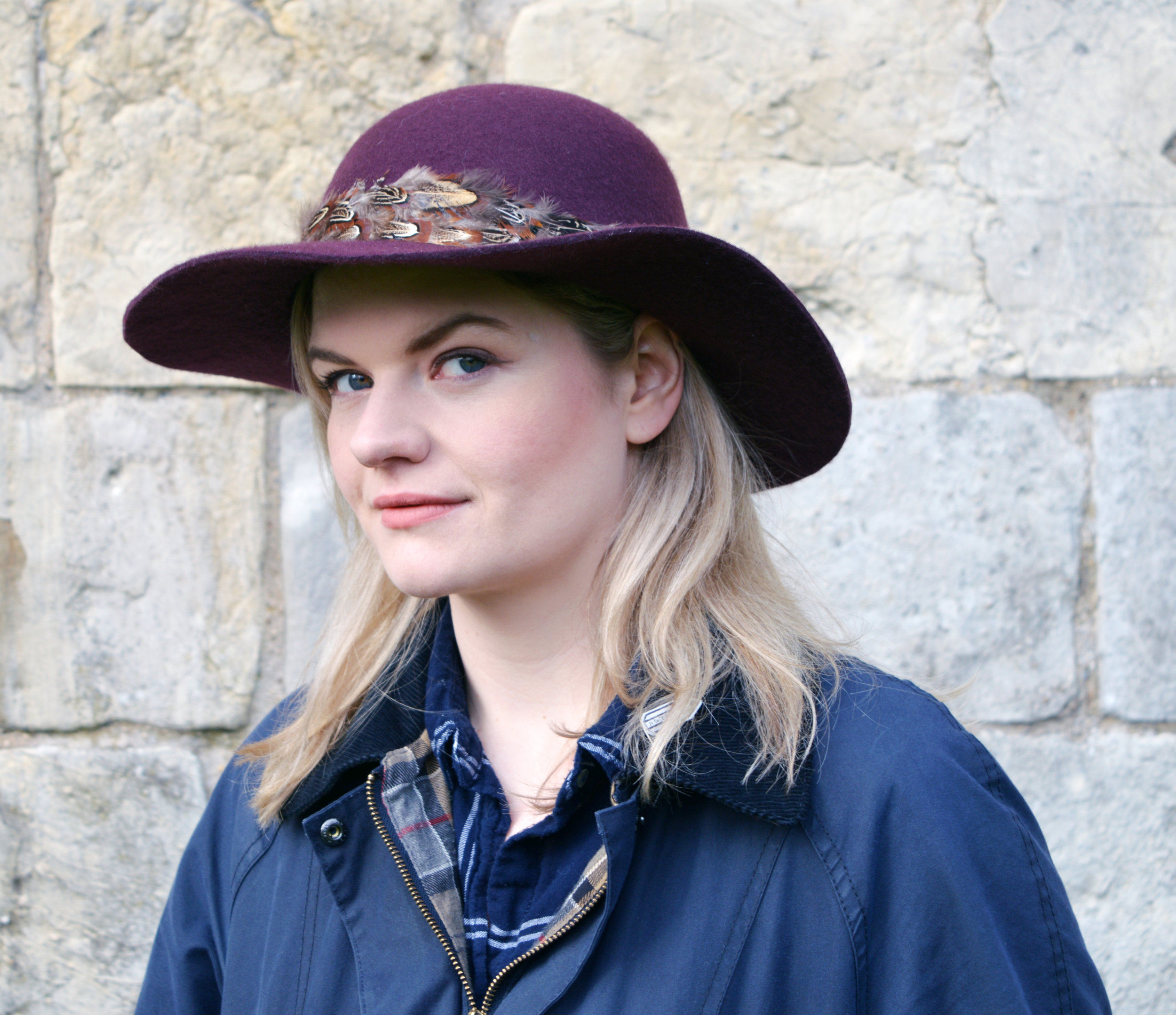 Barbour Ladies Jacket and Plum Hat