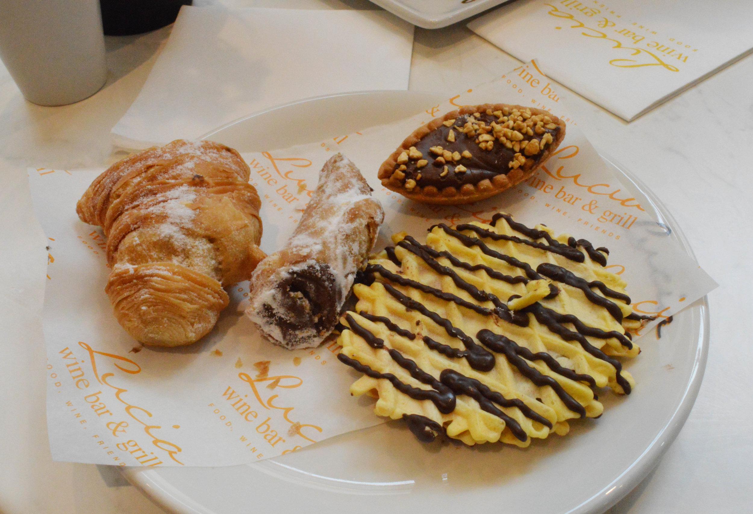 An assortment of italian biscuits/pasties