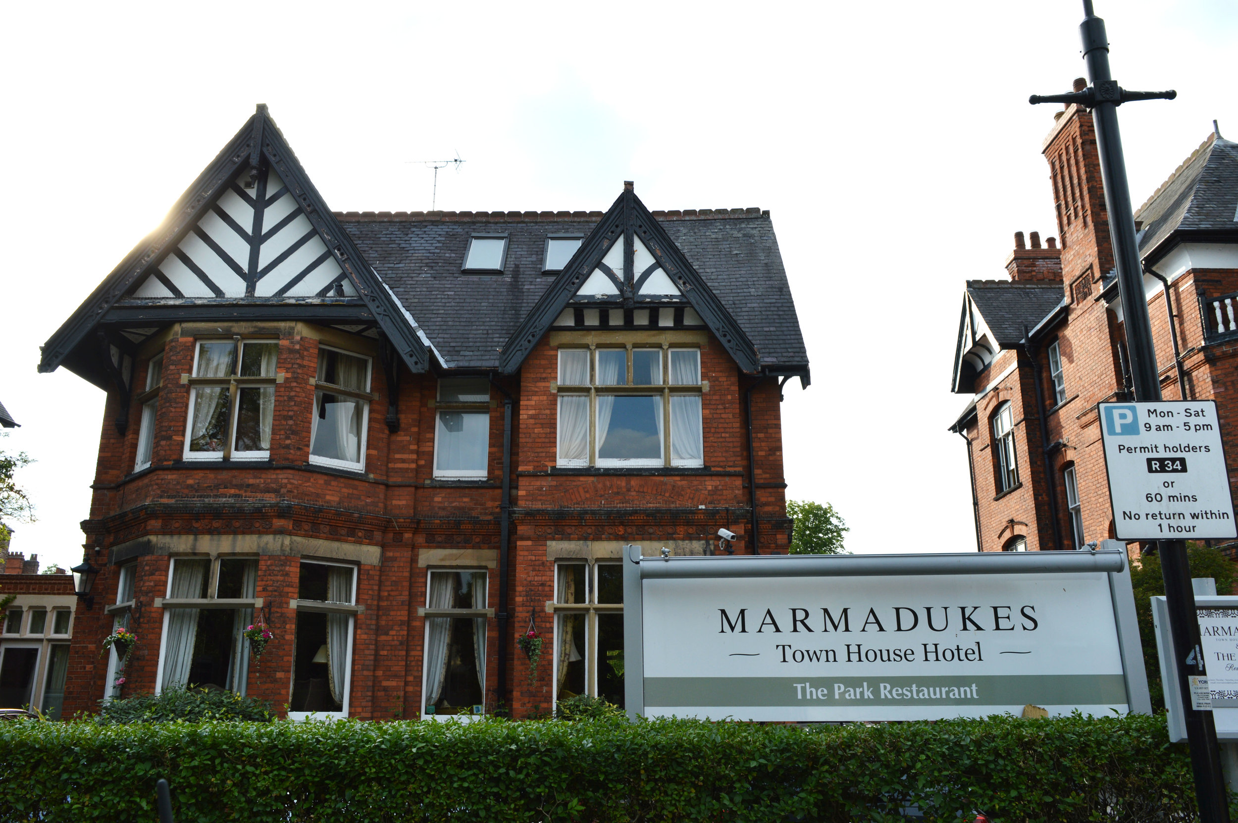 The Park Restaurant at Marmadukes hotel in York review