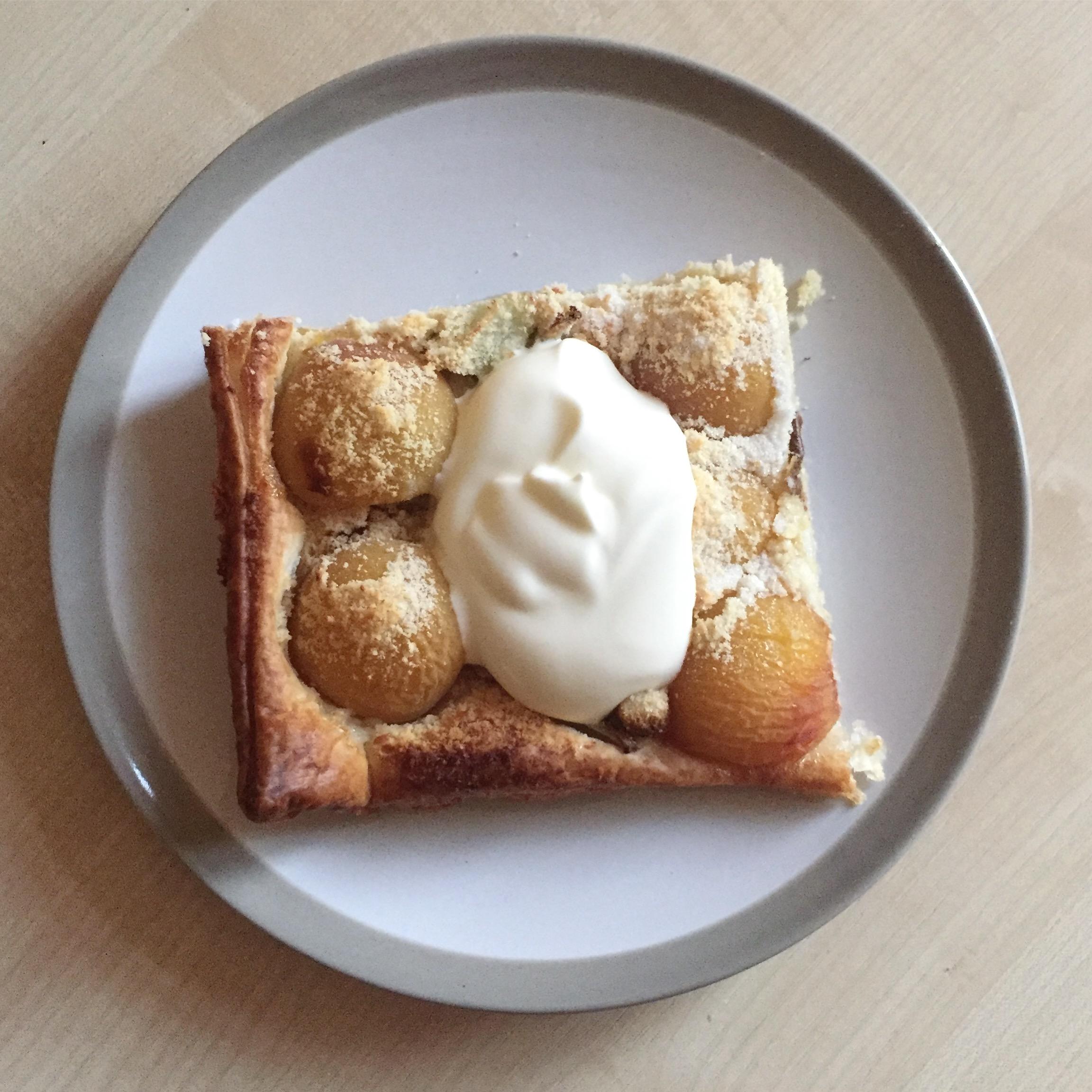 Pear and apricot Frangipane tarte recipe