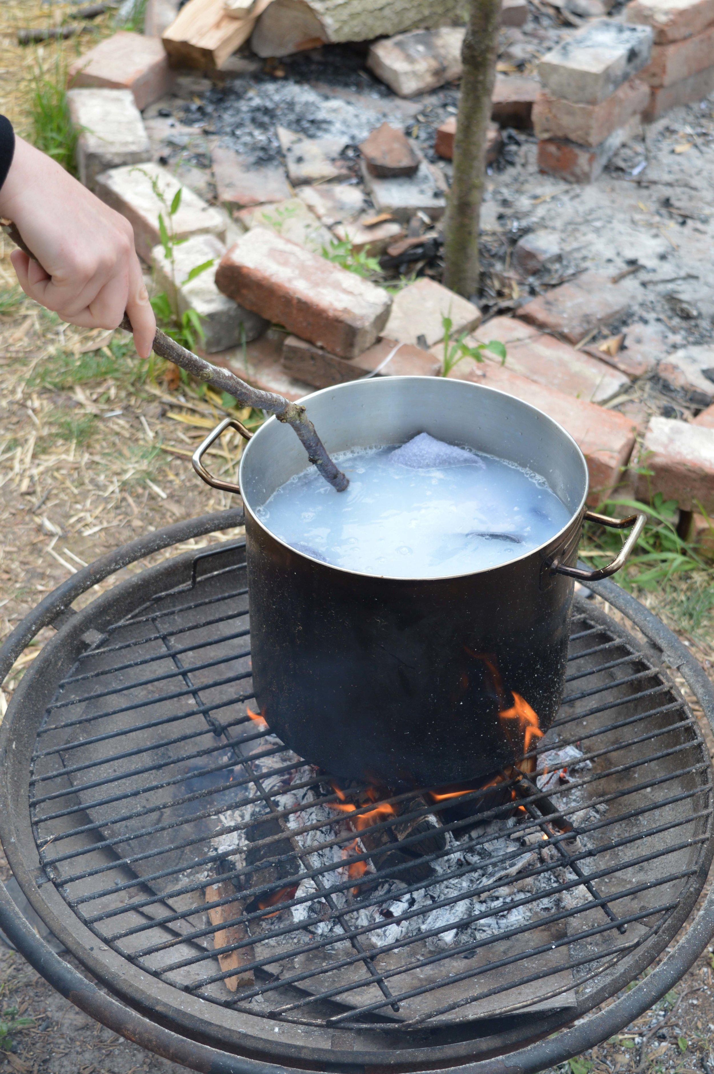 Washing in a bucket