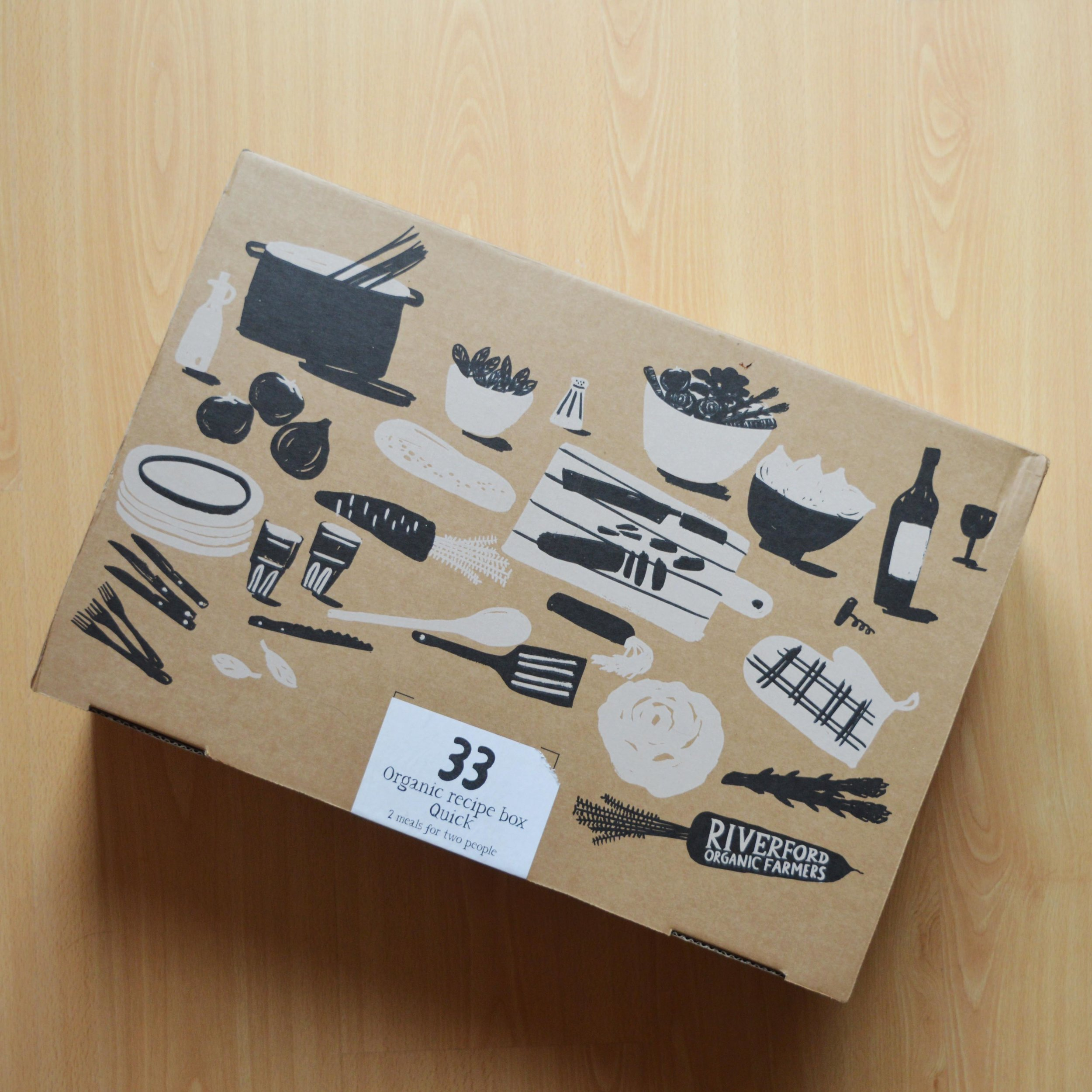 Riverford recipe box packaging