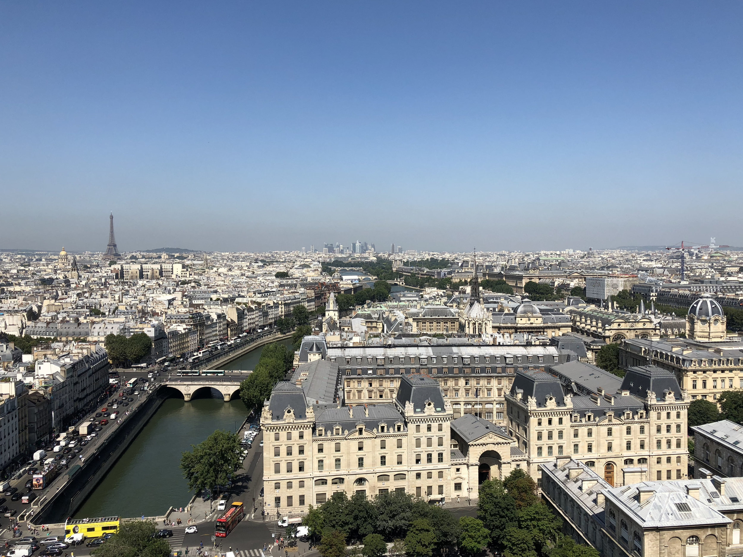 The view from the top of Notre Dame