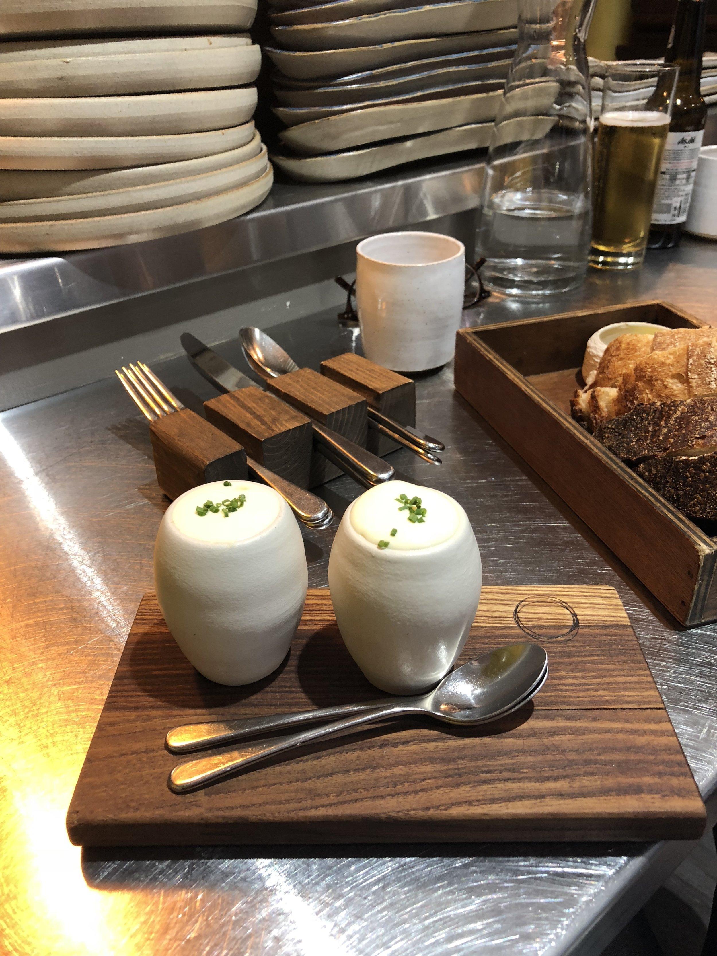 'hen's egg' - dale end cheddar, mushroom & sherry