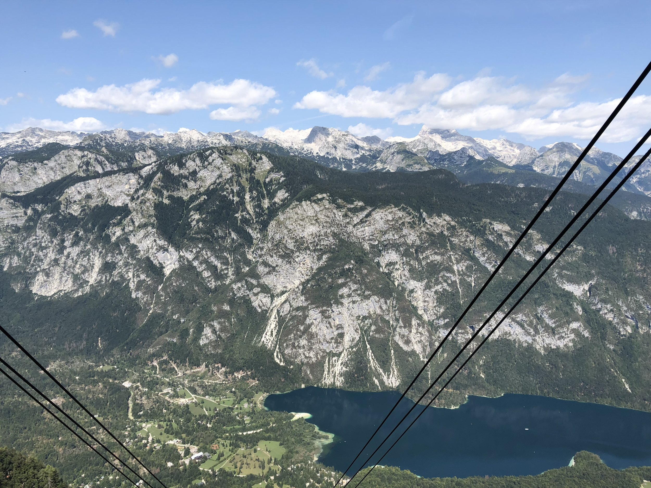 Vogel Ski Resort  view of Lake Bohinj