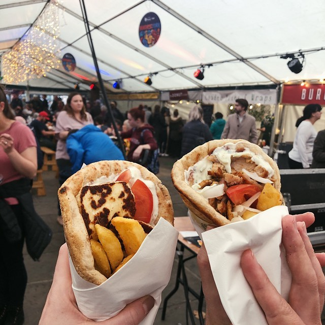 The realisation hit home hard today that @yorkfoodfest is no longer with us. Where am I going to get halloumi gyros from now?! 😭