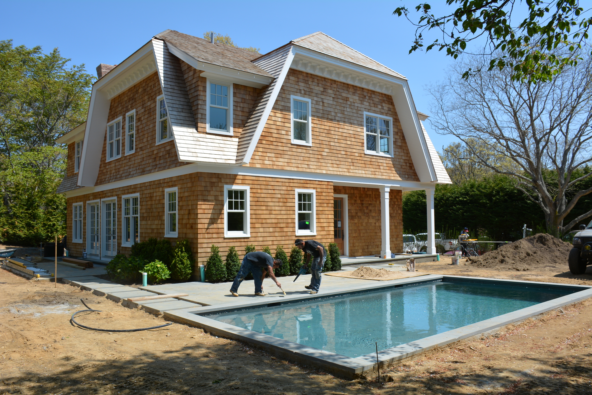 Jason Thomas Architect is nearing completion on our custom home on 25 Inkberry Lane in East Hampton, NY.