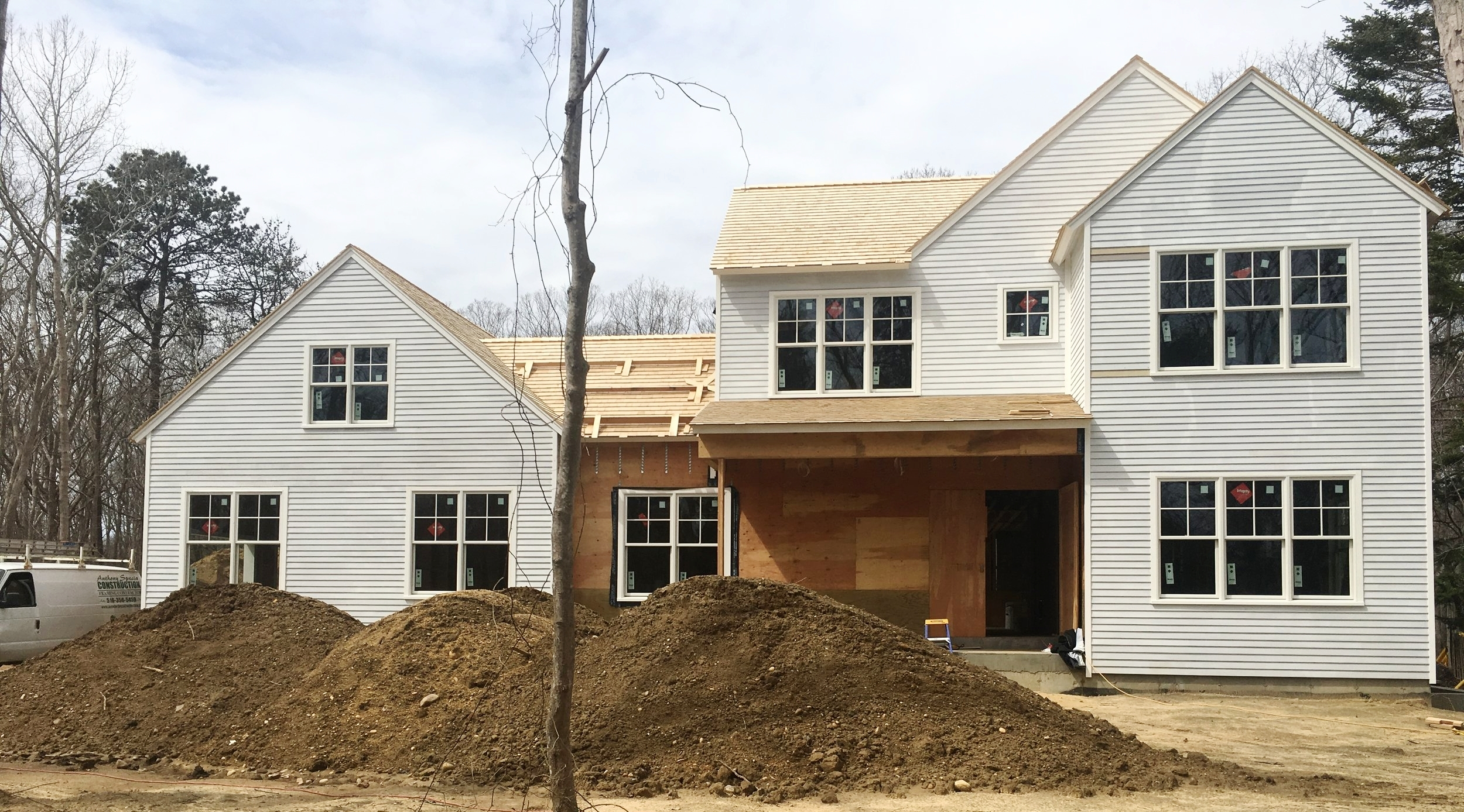 JTA designed single family residence in East Hampton, NY. Seeing lots of progress within a few weeks.