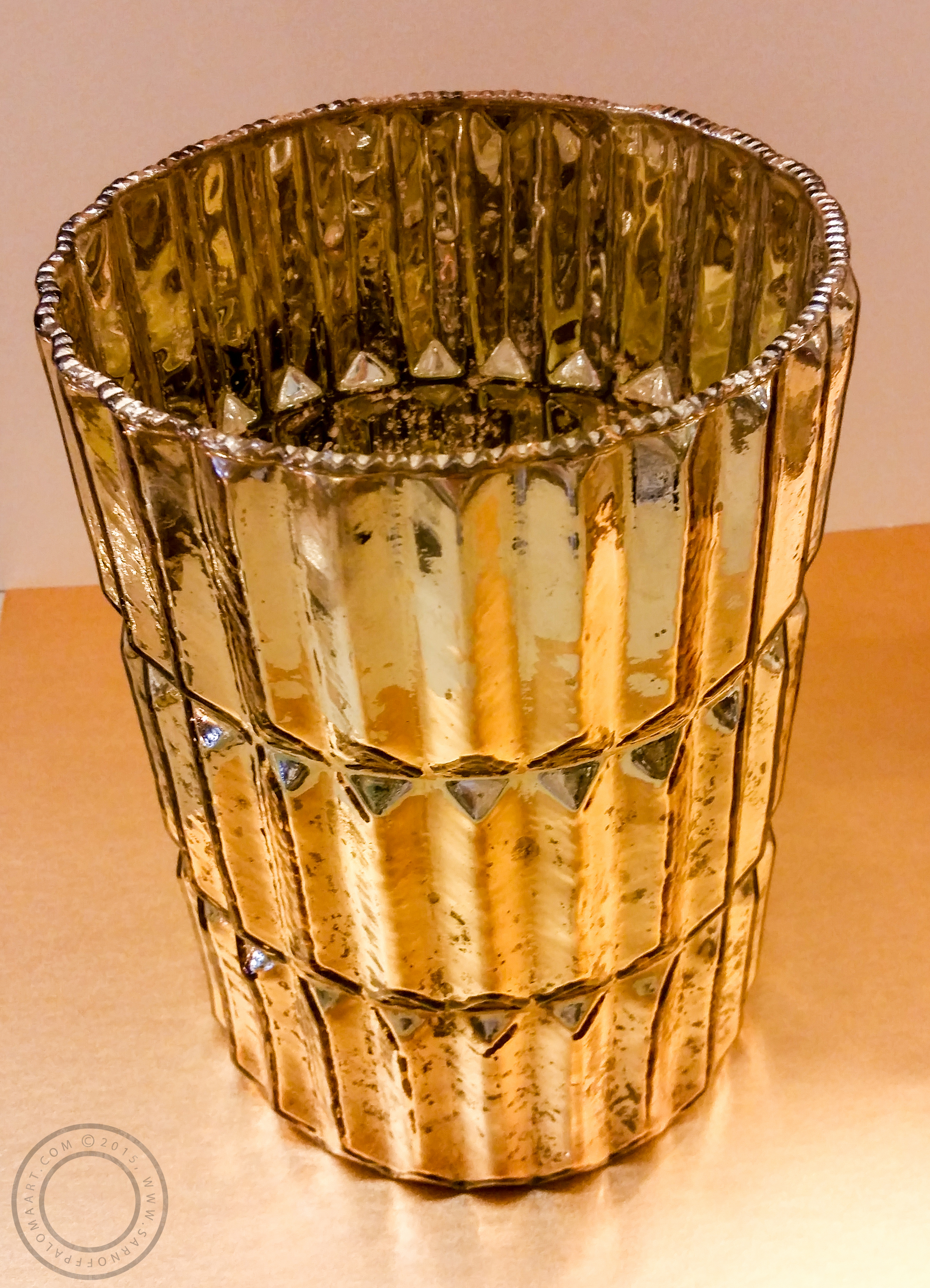 Golden wine chiller-$64