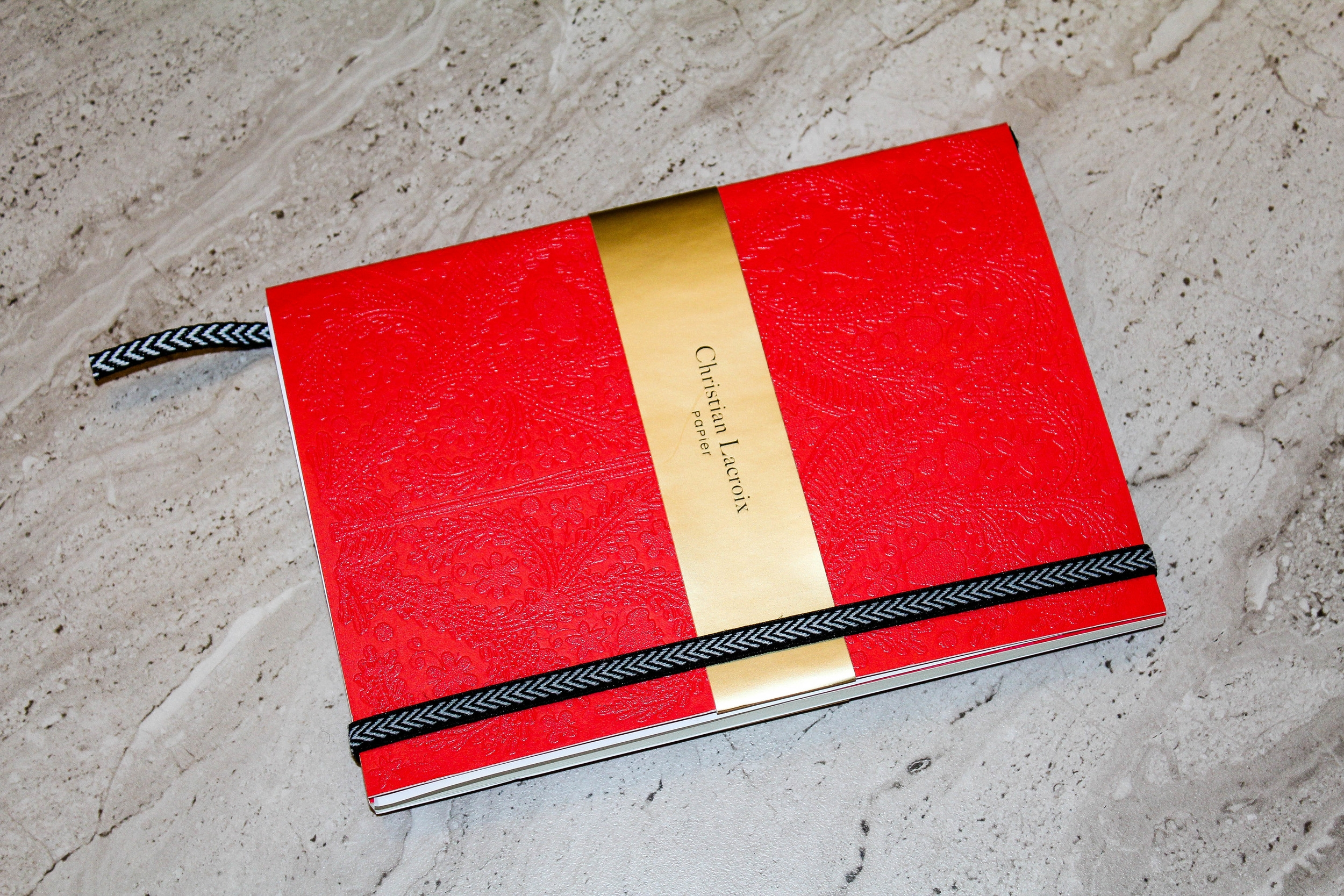 Christian Lacroix Embossed Red Journal