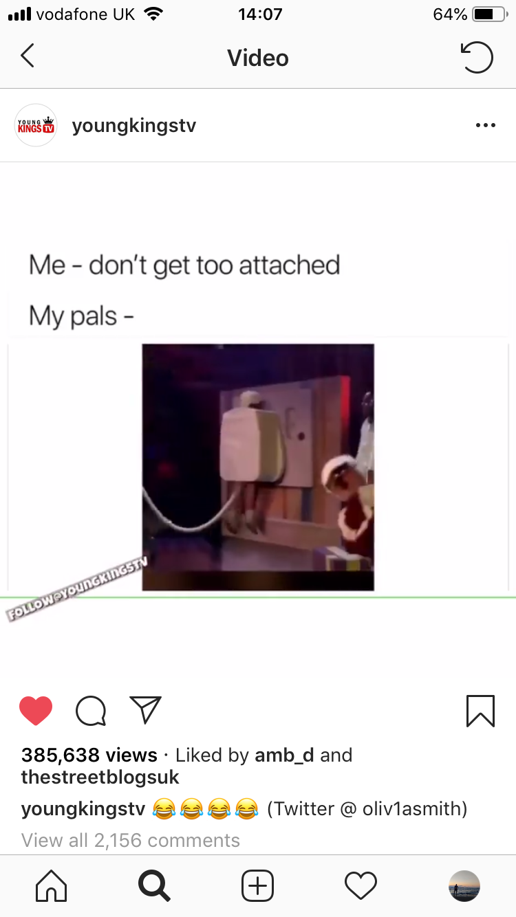A kid dressed as a plug slamming into a wall was posted on a bunch of meme accounts. * organically*