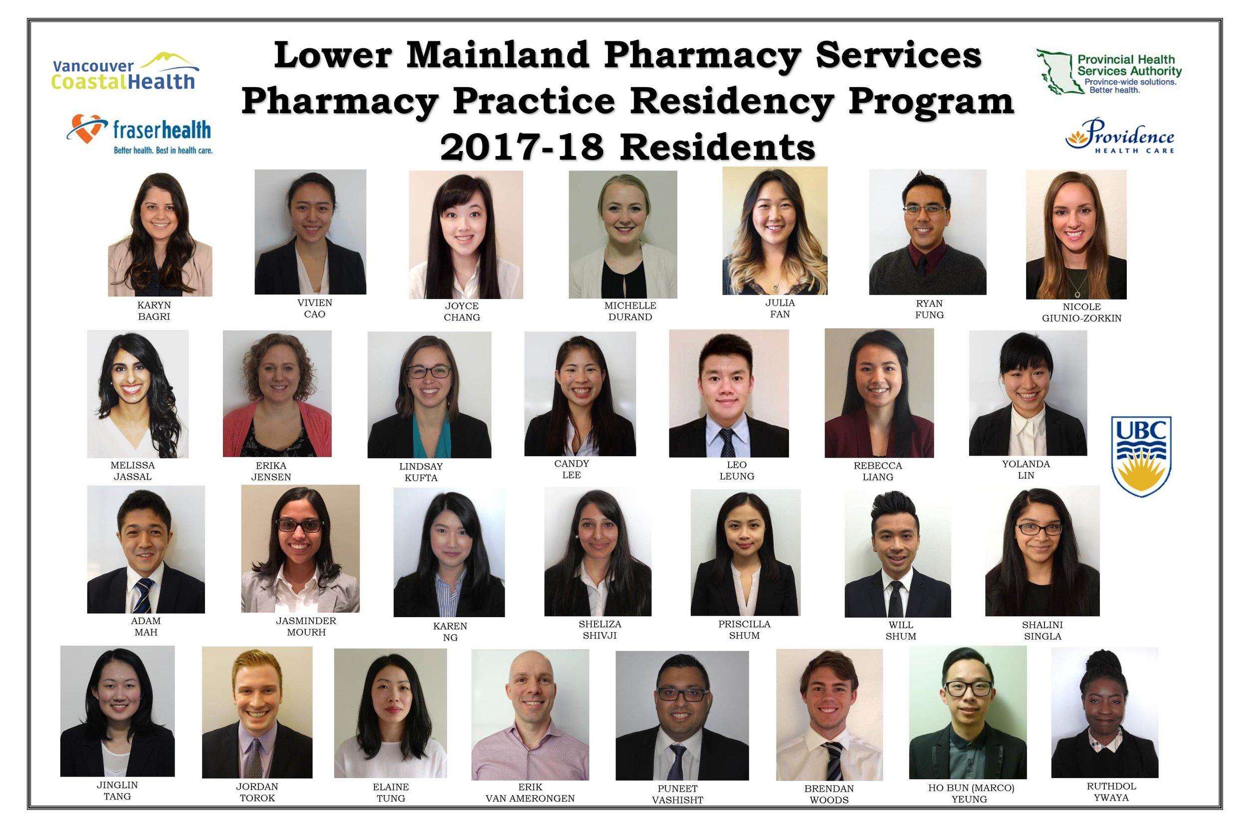 2017-18 LMPS Residency Class