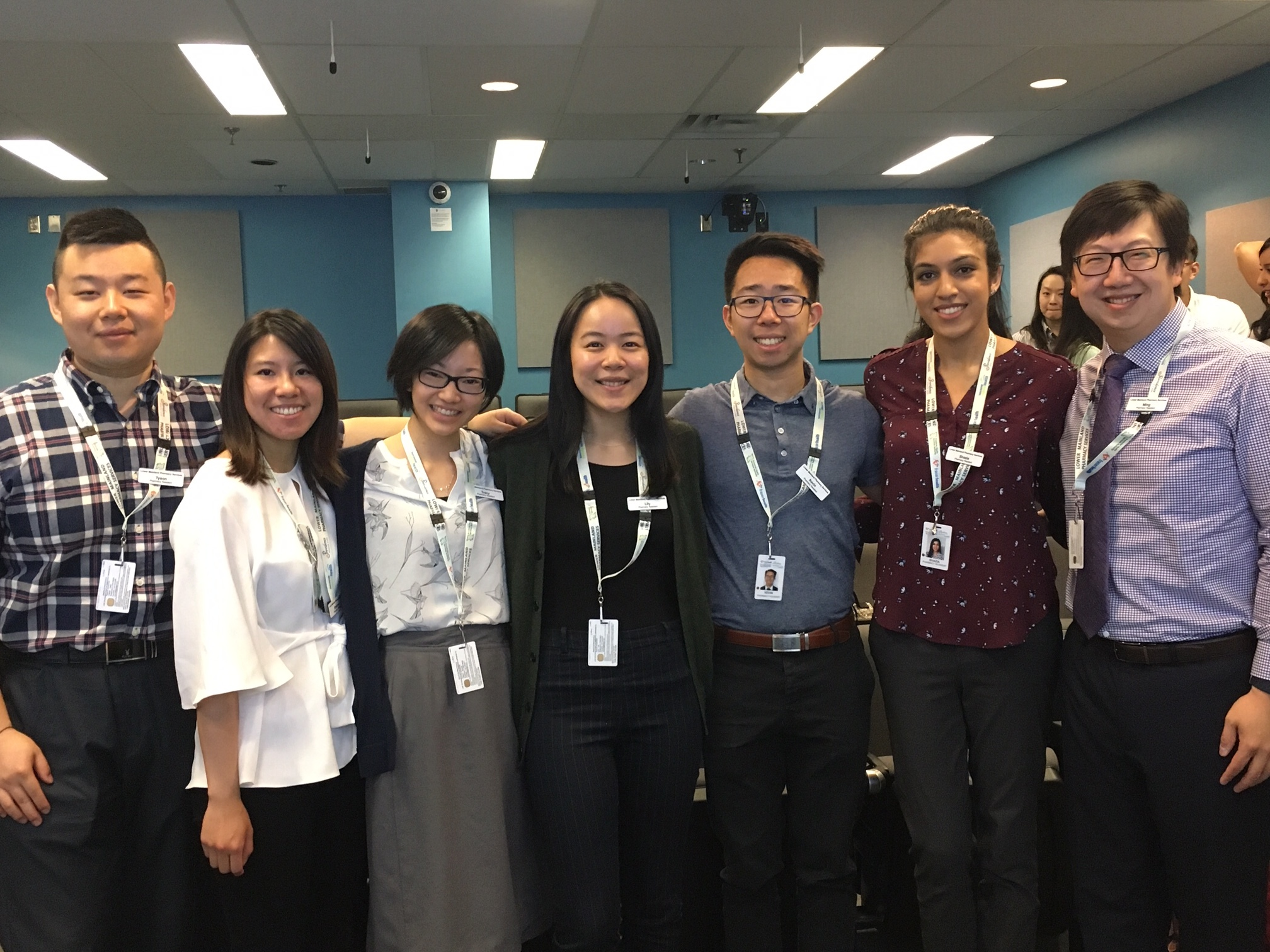 VGH / RH Pod (from left to right: Tyson, Shannon, Tracy, Lily, Kevin, Shazia and Ming)