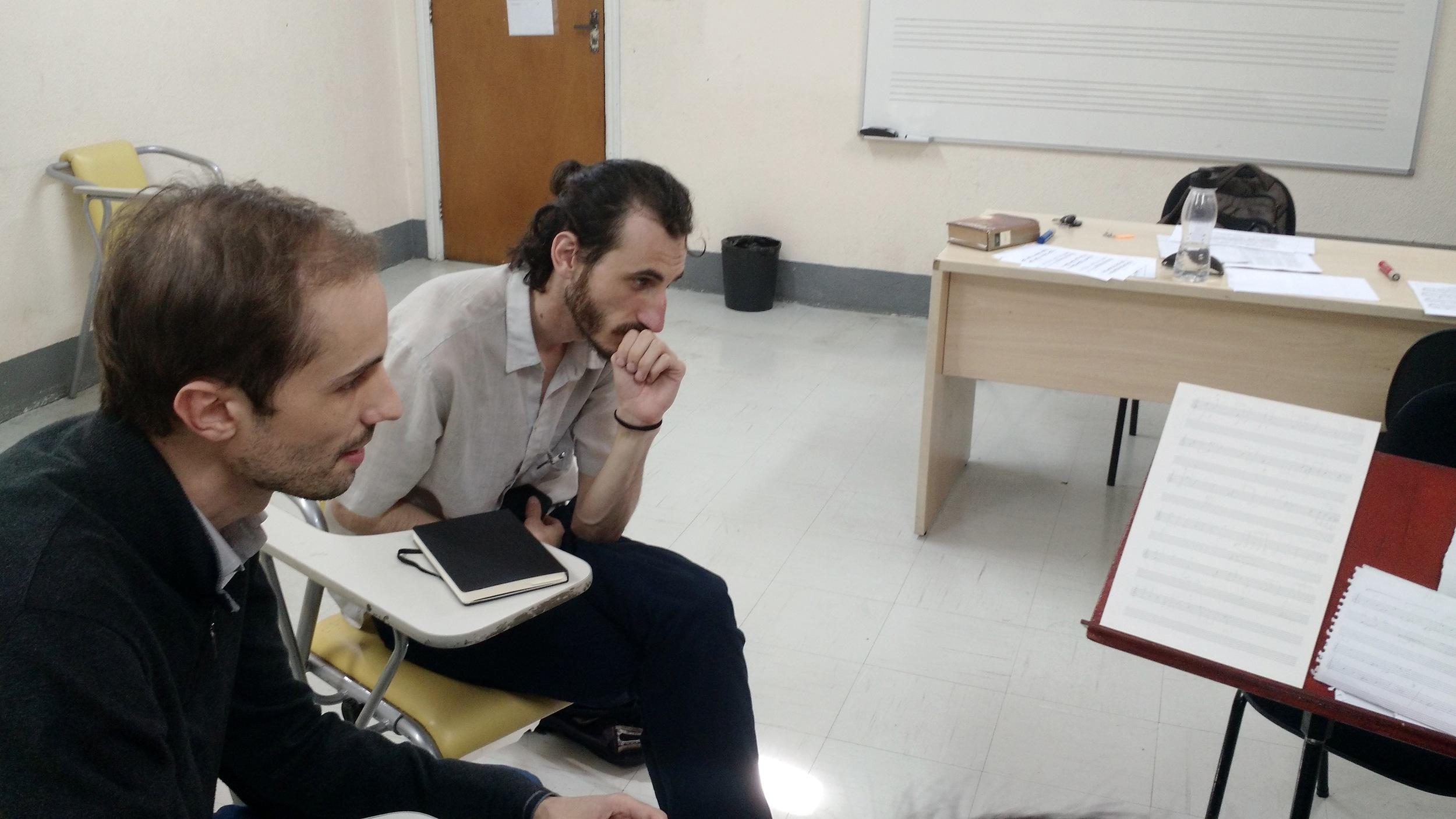 Gustavo Bonin (direita), em reunião realizada na EMESP no dia 18/06.