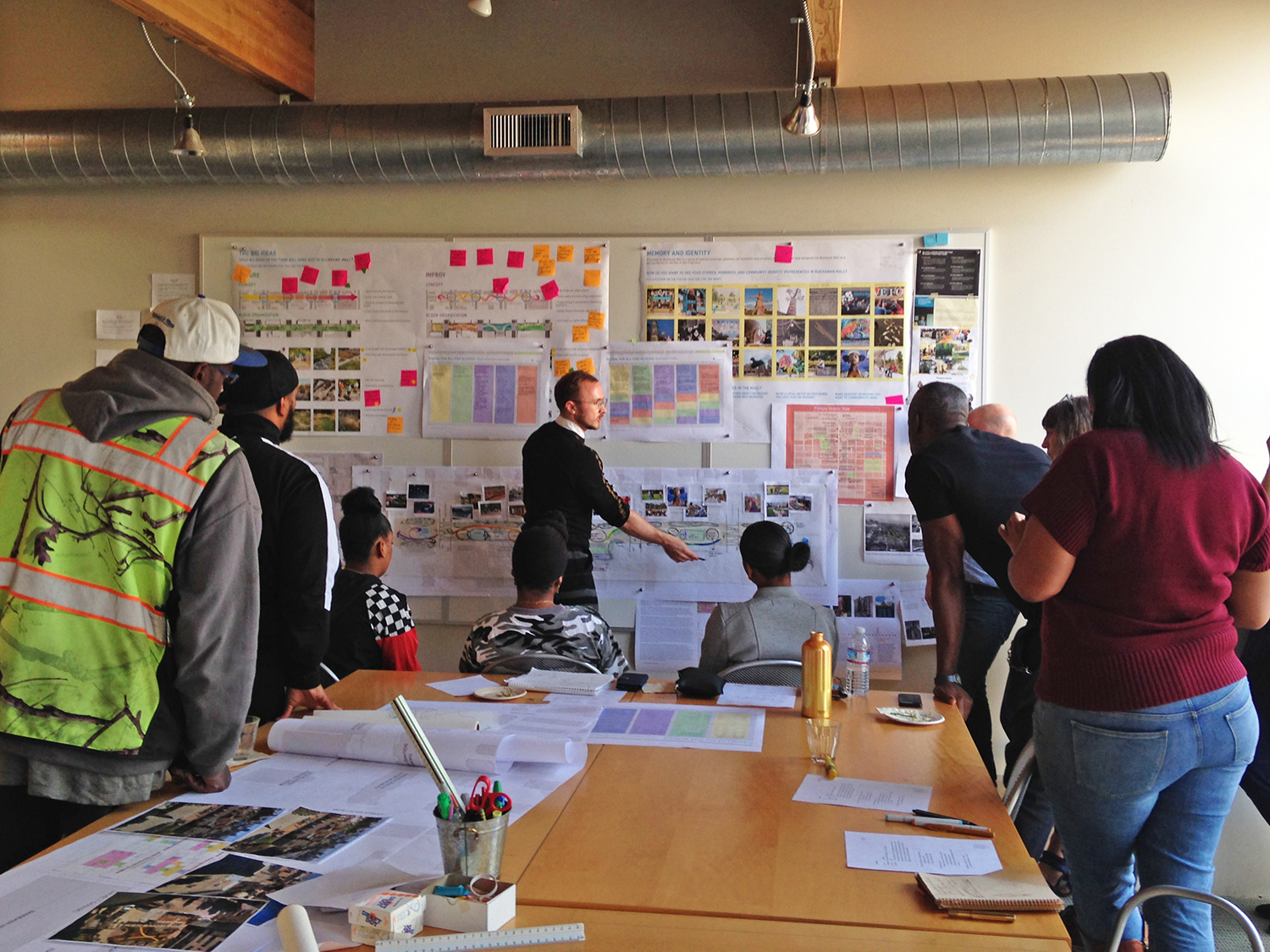 Key stakeholders provide input during a team charrette at O|CB's studio