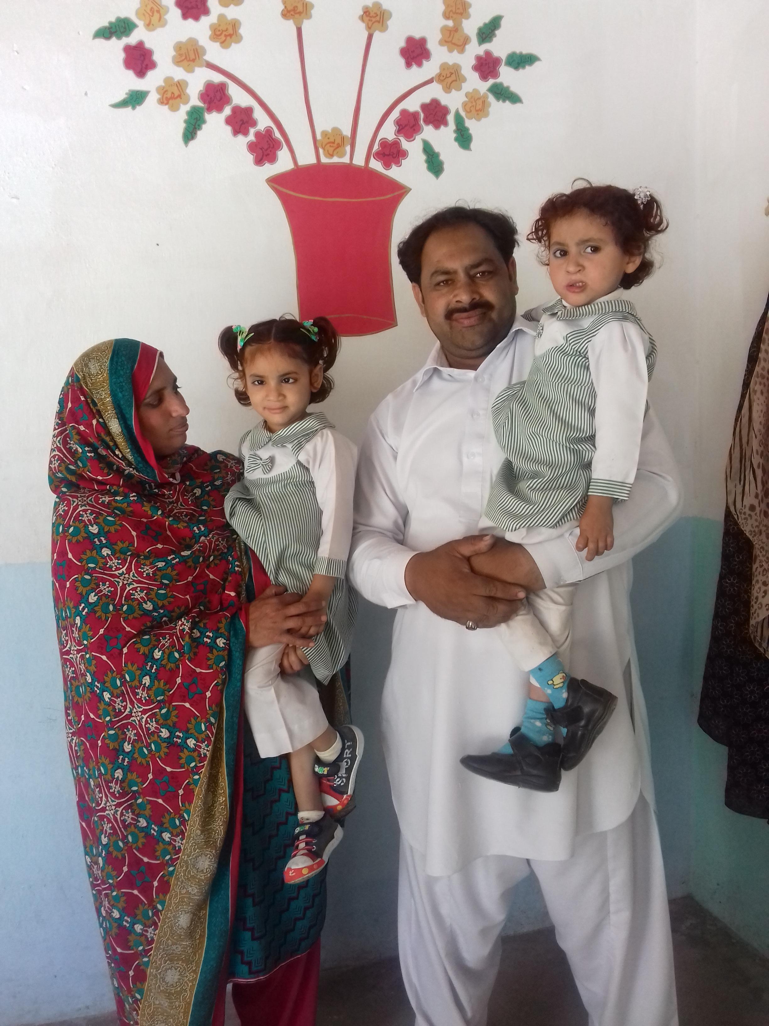 Shazana and Shahid Kouser with daughters Muntaha, left, and Mursleen, left