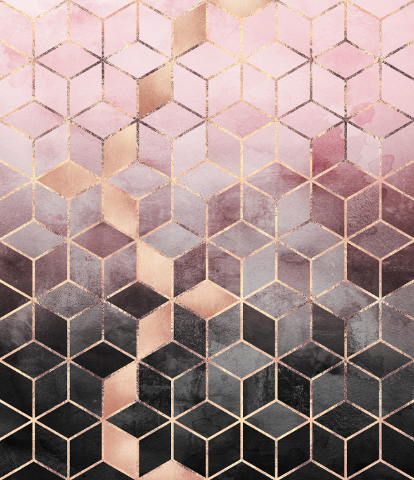 Pink And Grey Gradient Cubes