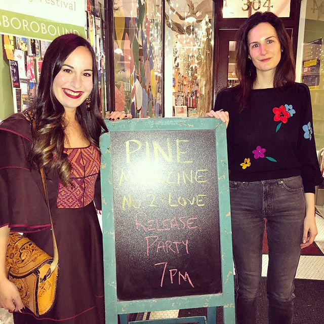 Thanks @scuppernongbooks for hosting our fabulous hometown launch! And a huge thank you to our family and friends who came! We've loved sharing PINE with you all! If you missed our launch events don't fret, you can still order your copy, link in bio! 💐 courtesy of @tomecone #pinemagazine #love #peoplewhopine #hometown #launch #conecousins