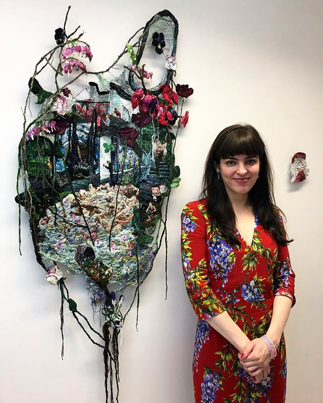New York Art Week is extra exciting with so many of our artists showing work! Here is our exceptionally talented cover artist, @sophianarret, with her absolutely stunning new piece @springbreakartshow. Go see it!! And then of course read more about Sophia and her work in PINE! #pinemagazine #love #sophianarrett #springbreakartshow #embroideryart #narrative #newyorkartweek #womenartists #conecousins