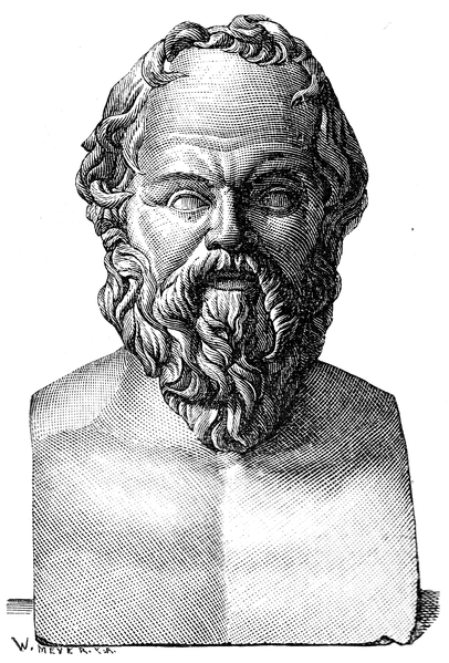 Socrates. Illustration by E. Wallis.