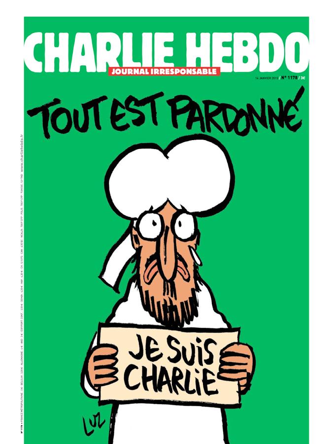 """""""Tudo está perdoado."""" Edição especial do Charlie Hebdo após o atentado."""