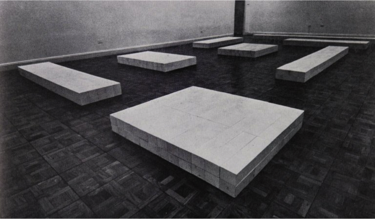Equivalentes. Carl Andre.