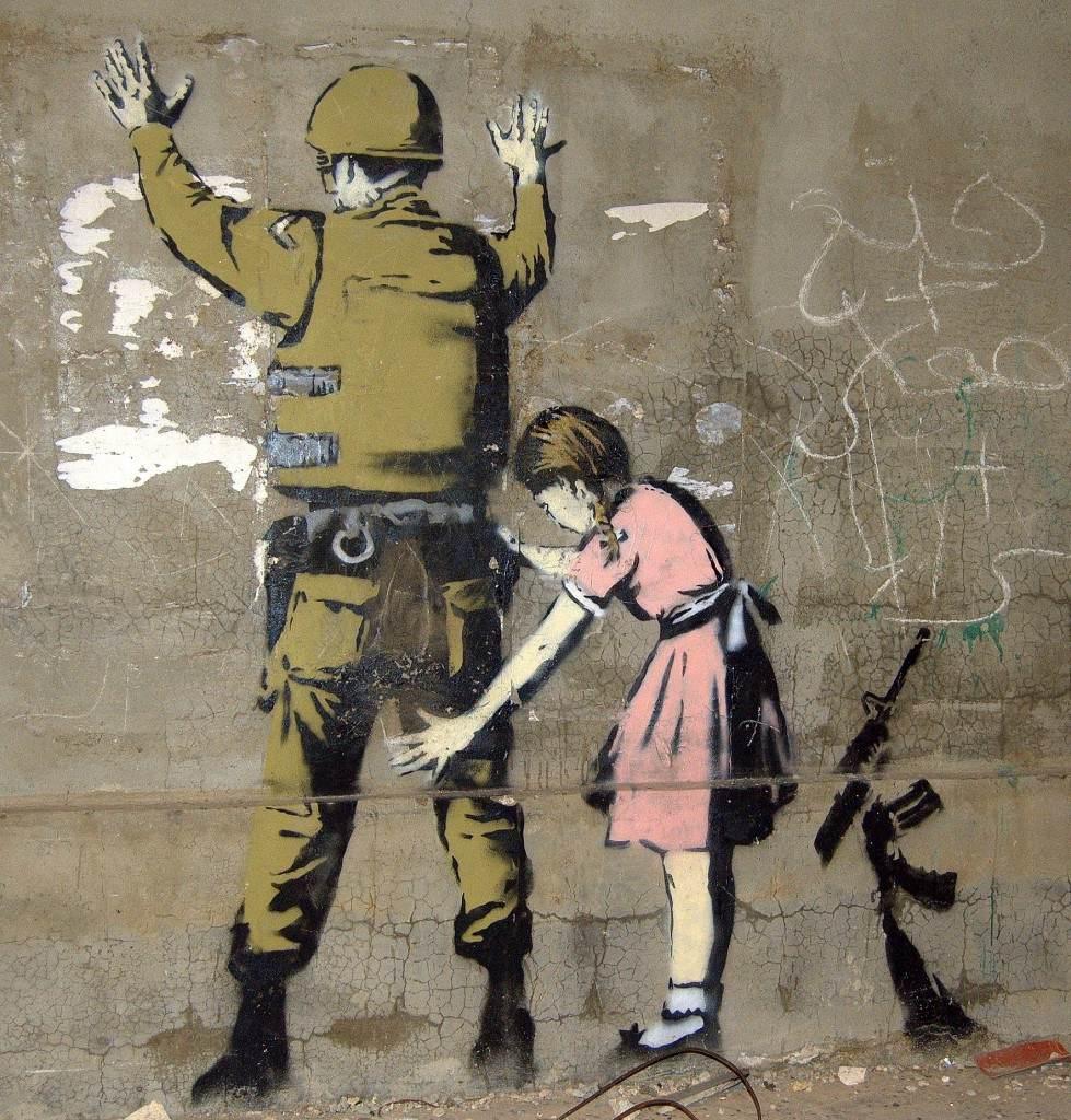 Por Banksy.