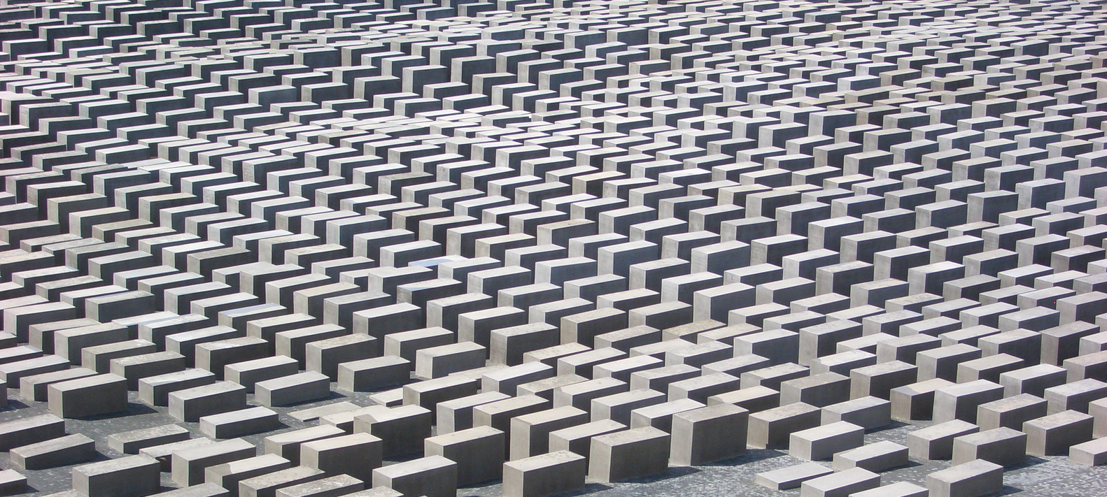 Holocaust Memorial, designed by Peter Eisenman.