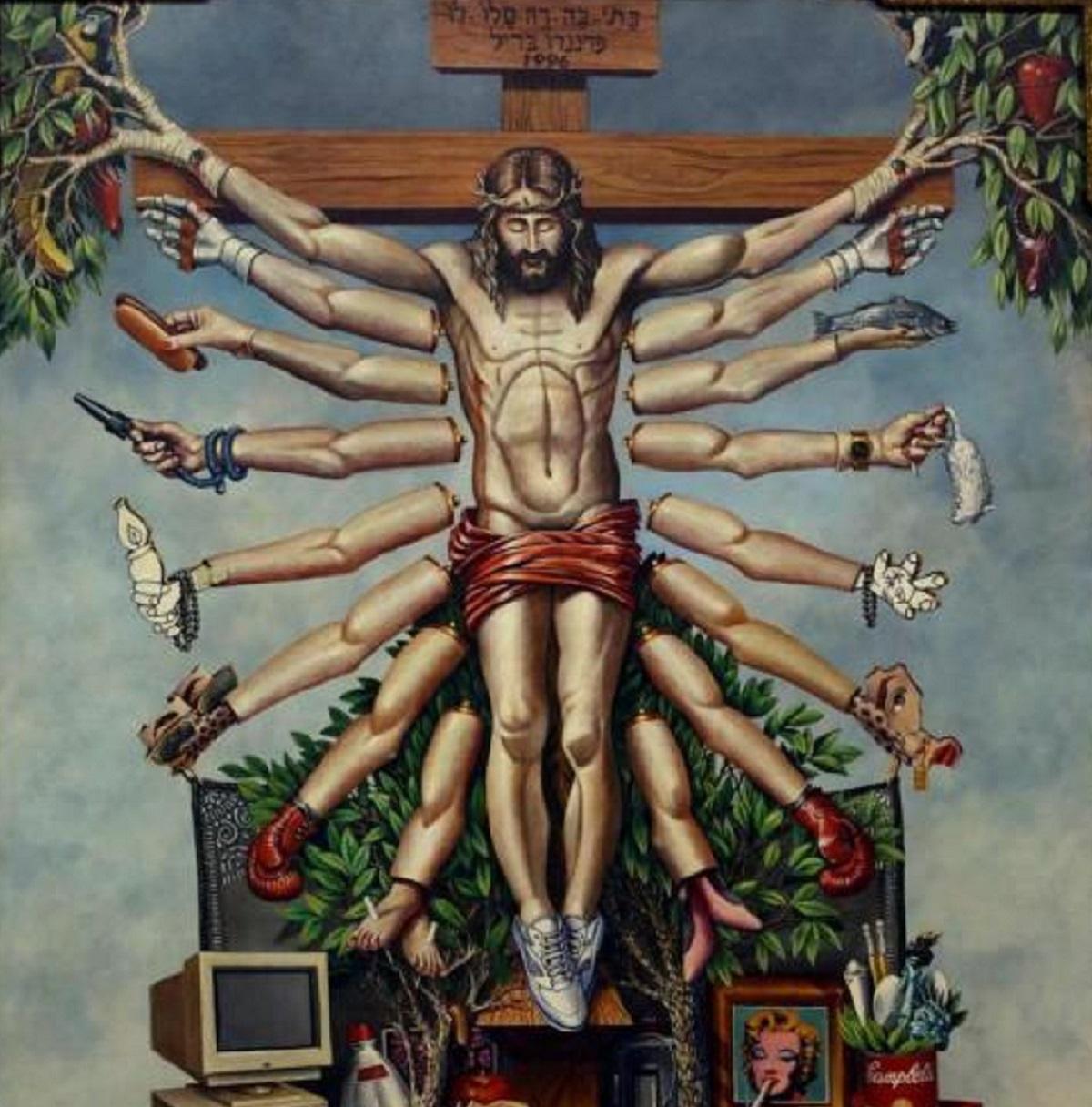 Cruzando Jesus Cristo com Deusa Schiva. Fernando Baril, 1996.